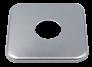 rozeta kwadratowa pojedyncza chrom